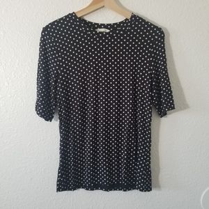 H&M Black and White Polka Dot Blouse